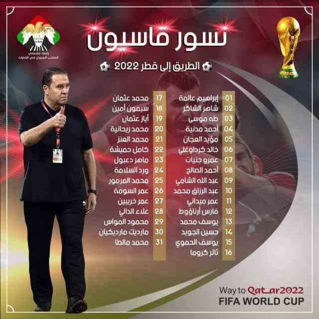 国足世预赛对手叙利亚集结最强阵容:索马回归 3名旅欧驰援