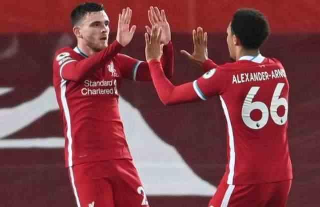罗伯逊、阿诺德和万比萨卡:20-21赛季英超边卫周薪有多少?