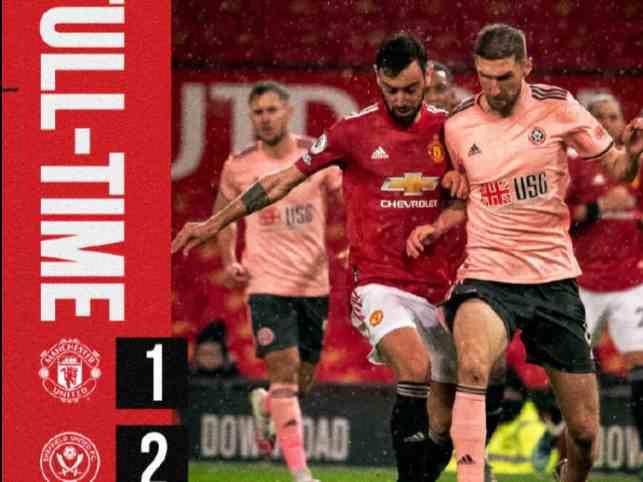英超积分榜:曼联1-2爆冷第2,曼城5-0横扫第1,利物浦34分第5