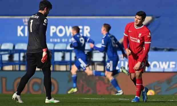 阿利森又失误,后防线7分钟连丢3球 莱斯特3-1逆转利物浦