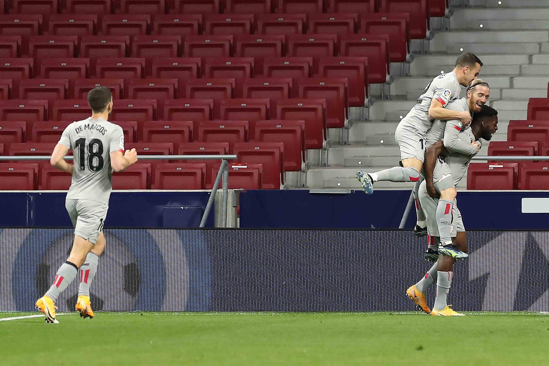 (体育)足球——西甲:马德里竞技胜毕尔巴鄂竞技