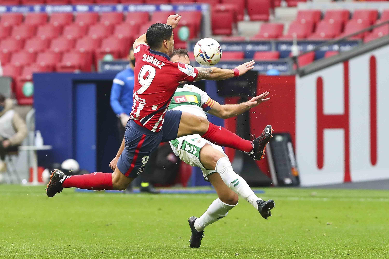 (体育)足球——西甲:马德里竞技胜埃尔切