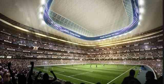 西甲皇家马德里球场新伯纳乌六大改变:顶棚能快速关闭,草皮可以移动
