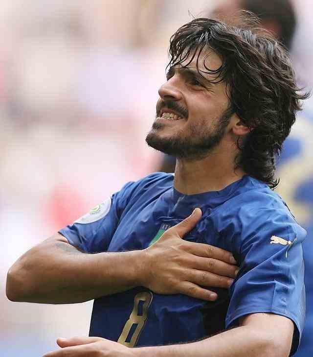 意大利的中场绞肉机,名副其实的铁血战士,传奇兽腰加图索!