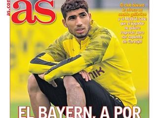 阿斯报:拜仁将为阿什拉夫提供一份高薪合同