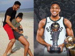 字母哥夺冠又当爹!妻子怀上第二胎,NBA新超巨,26岁开挂人生