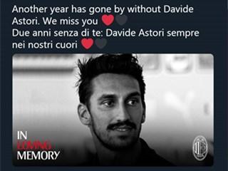 米兰佛罗伦萨发文纪念大卫-阿斯托里:永远的13号,我们始终怀念!