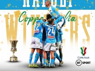 冠军成色十足!那不勒斯意大利杯连克意甲前三夺冠!