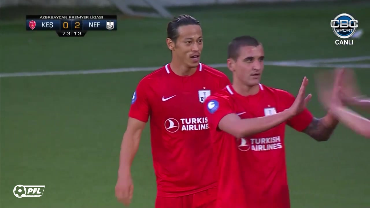 踢遍全球!本田圭佑打进阿塞拜疆联赛首球