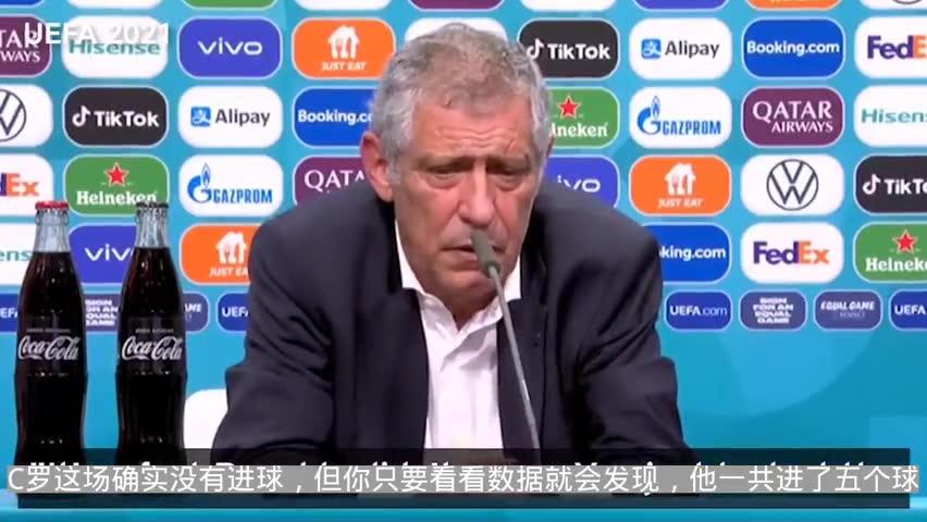 桑托斯:C罗已经进了5个球,我不认为他有任何问题