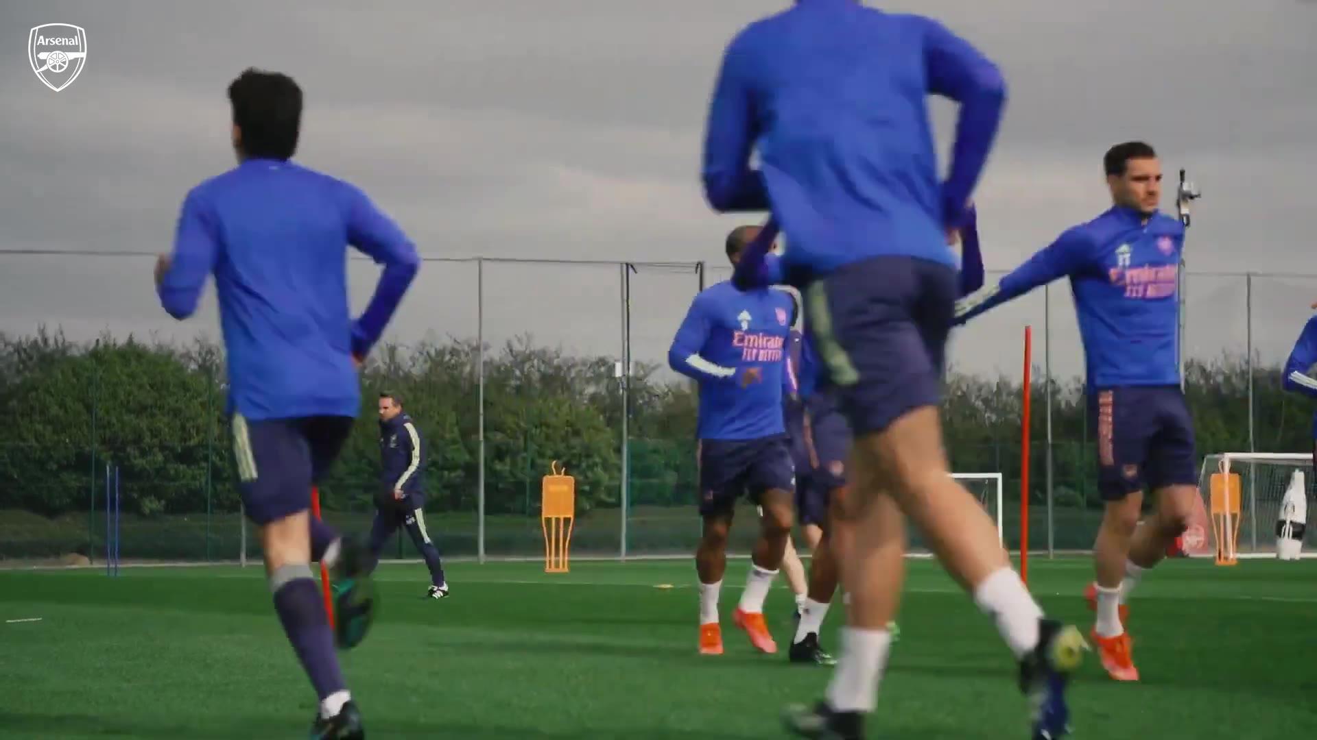 备战利物浦!阿森纳4.3训练视频